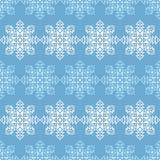 Fond sans couture de vecteur avec les flocons de neige décoratifs Modèle d'hiver Images stock