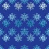 Fond sans couture de vecteur avec les flocons de neige décoratifs Modèle d'hiver Photos stock