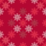 Fond sans couture de vecteur avec les flocons de neige décoratifs Modèle d'hiver Images libres de droits