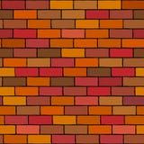 Fond sans couture de vecteur d'illustration de mur de briques illustration stock