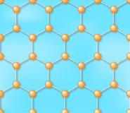 Fond sans couture de vecteur de molécule, modèle Photo stock
