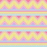 Fond sans couture de vecteur de Tileable dans le style tribal en pastel Image stock
