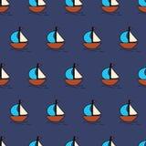 Fond sans couture de vecteur de voiliers Enfants de modèle d'été illustration de vecteur