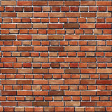 Fond sans couture de vieux mur de briques rouge. Photo libre de droits