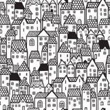Fond sans couture de ville illustration stock