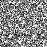 Fond sans couture de vintage des roses grises Photographie stock libre de droits