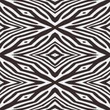 Fond sans couture de zèbre abstrait de vecteur Images libres de droits
