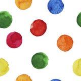 Fond sans couture des cercles colorés d'aquarelle illustration stock