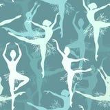 Fond sans couture des danseurs classiques de flocon de neige illustration libre de droits