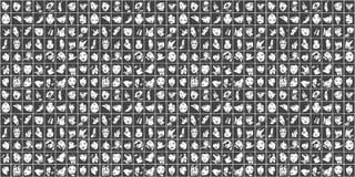 Fond sans couture des portraits femelles en noir et blanc illustration de vecteur