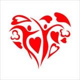 Fond sans couture du jour de valentine Photographie stock libre de droits