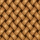 Fond sans couture en osier, panier en bois texturisé Photo libre de droits