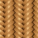 Fond sans couture en osier, panier en bois texturisé Photo stock