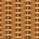 Fond sans couture en osier, panier en bois texturisé Photos libres de droits