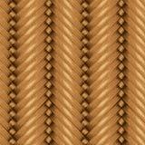 Fond sans couture en osier, panier en bois texturisé Images stock