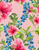 Fond sans couture exotique avec tropical rose Photographie stock