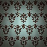 Fond sans couture floral de modèle de vintage de damassé Photo libre de droits