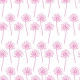 Fond sans couture floral de modèle de vecteur Fond de fleur gribouillez la texture sans couture avec des fleurs wallpaper illustration libre de droits