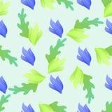 Fond sans couture floral de modèle de vecteur de résumé illustration libre de droits