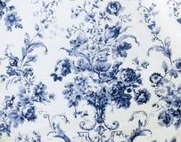 Fond sans couture floral de tissu de modèle de rétro dentelle Photographie stock