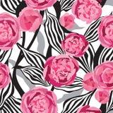 Fond sans couture floral. Texture géométrique d'ornement abstrait. Photos stock
