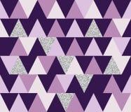Fond sans couture géométrique abstrait de modèle avec des éléments de scintillement Calibre de textile ou de papier peint Illustr Photo stock