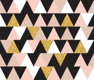 Fond sans couture géométrique abstrait de modèle avec des éléments de scintillement Calibre de textile ou de papier peint Illustr Image stock