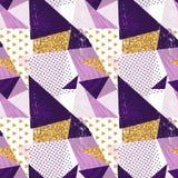 Fond sans couture géométrique abstrait de modèle avec des éléments de scintillement Calibre de textile ou de papier peint Illustr Images libres de droits