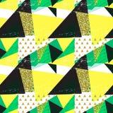 Fond sans couture géométrique abstrait de modèle avec des éléments de scintillement Calibre de textile ou de papier peint Illustr Photographie stock libre de droits