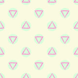 Fond sans couture géométrique abstrait de vecteur de modèle avec des formes vertes de cercle coloré et de triangle de pastel pour Photo libre de droits