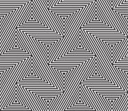 Fond sans couture géométrique abstrait de vecteur de modèle illustration stock
