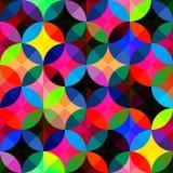 Fond sans couture géométrique abstrait lumineux Photographie stock