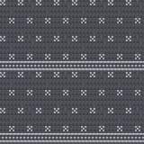 Fond sans couture gris tricoté de modèle illustration stock