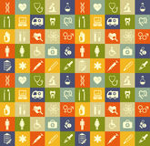 Fond sans couture médical de vecteur Images libres de droits