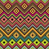 Fond sans couture mexicain de zigzag Images libres de droits