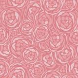 Fond sans couture monotone de modèle de fleur d'artichaut de vecteur illustration stock