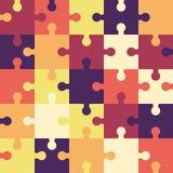 Fond sans couture ou modèle de puzzle lumineux gibier illustration libre de droits
