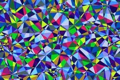 Fond sans couture polygonal multicolore sans couture Images stock