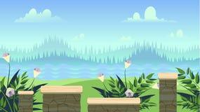 Fond sans couture pour des applications mobiles et des ordinateurs de jeux Illustration de vecteur pour votre eau doux de design  Image stock