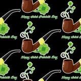Fond sans couture pour le jour de Patricks avec le simbol et les oxalidex petite oseille illustration libre de droits