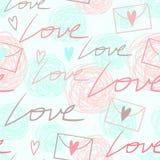 Fond sans couture romantique tendre Photos libres de droits