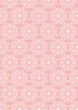Fond sans couture rose des couleurs ovales de whited'ornamentde vintage Photos stock