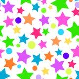Fond sans couture transparent coloré d'étoile illustration libre de droits