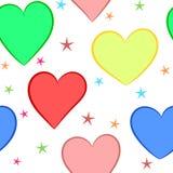 Fond sans couture transparent coloré d'amour illustration stock