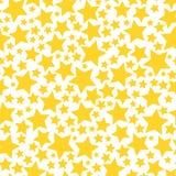 Fond sans couture transparent jaune d'étoile illustration de vecteur