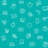 Fond, sans couture, vert, catégories de produit, magasin en ligne illustration stock