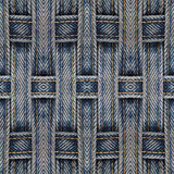 Fond sans joint abstrait de configuration Jeans texturisés Photo libre de droits