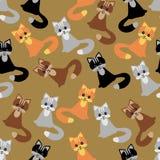 Fond sans joint avec des chats Photos stock