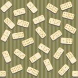 Fond sans joint avec des dominos Image stock
