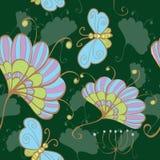 Fond sans joint avec des fleurs illustration stock